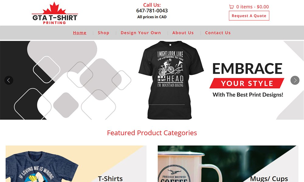 eCommerce Website Design Brampton